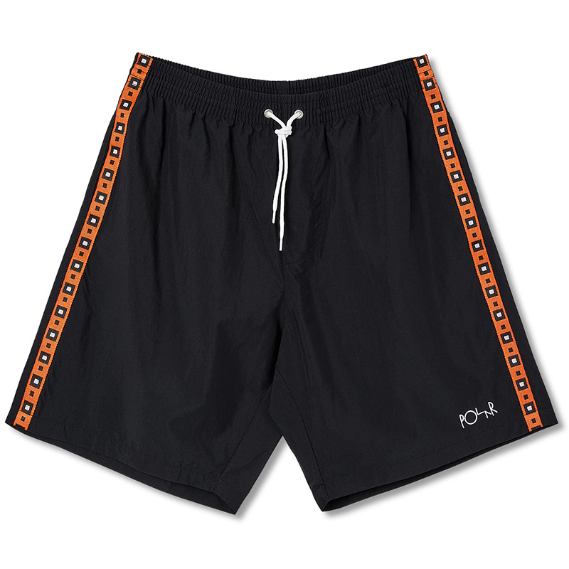 Polar Square Stripe City Swim Shorts Black