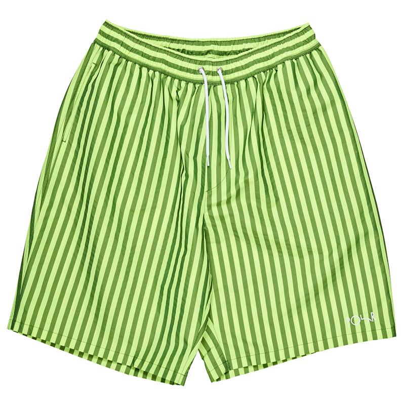 90c60b08c077 Polar Stripe Swim Shorts Neon Yellow M - Skatestore.com