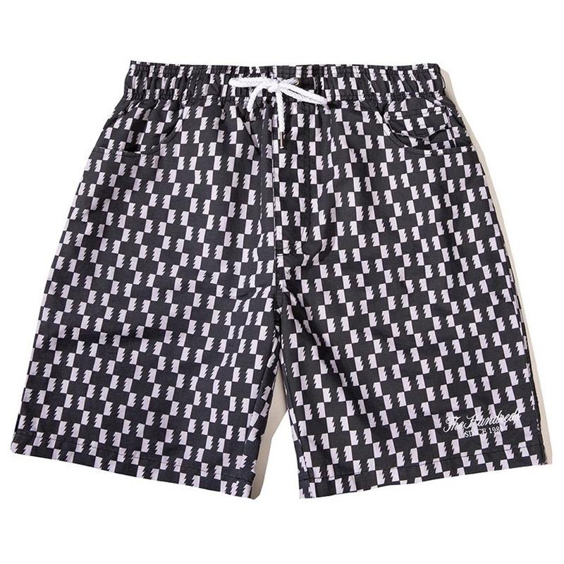 The Hundreds Point Hybrid Shorts Black Check