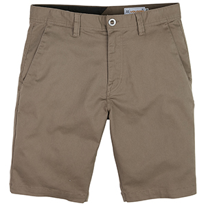Volcom Frickin Modern Fit Stretch Short Mushroom