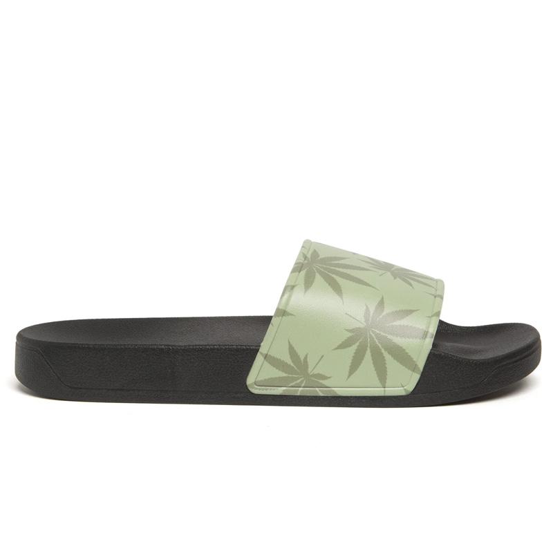 HUF X 420 Plantlife Slides Green