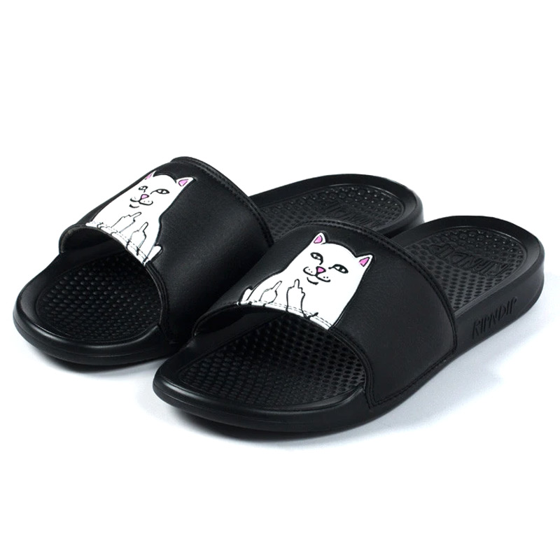 RIPNDIP Lord Nermal Slides Black