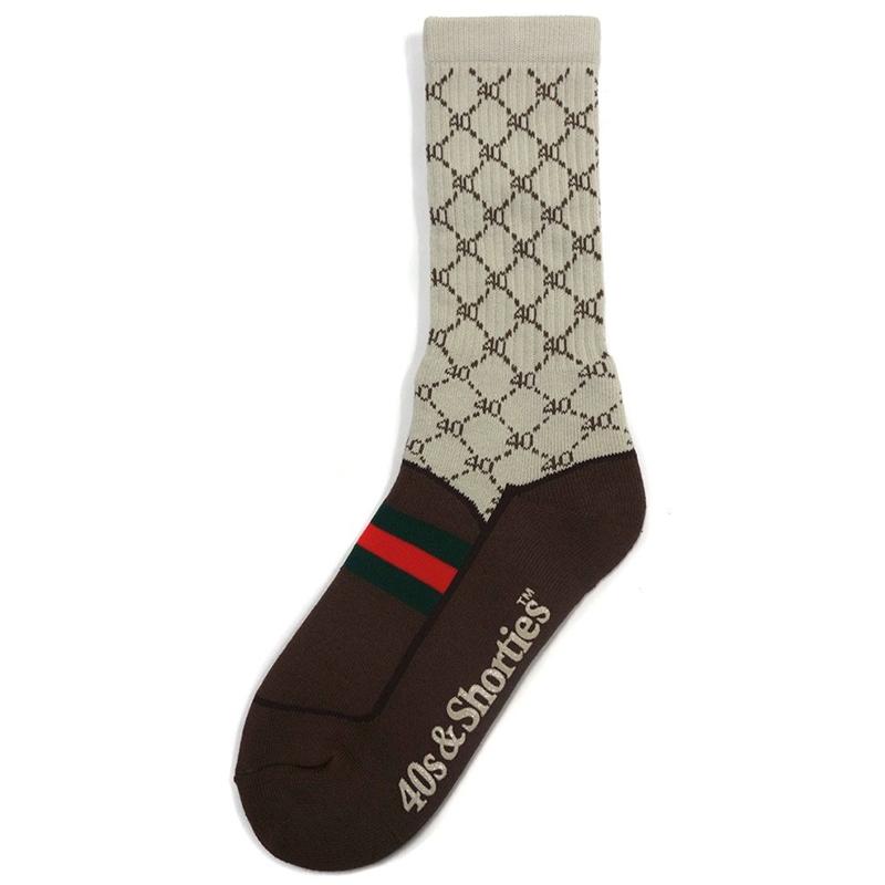 40s & Shorties Loafer Socks Brown