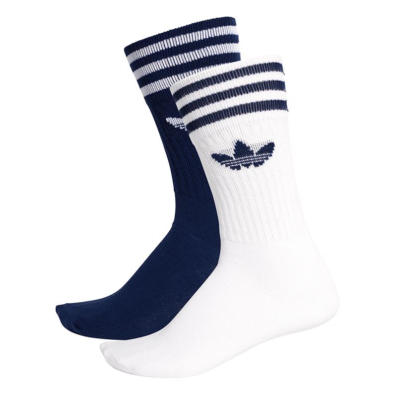 adidas Solid Crew Socks 2Pack Dkblue/White