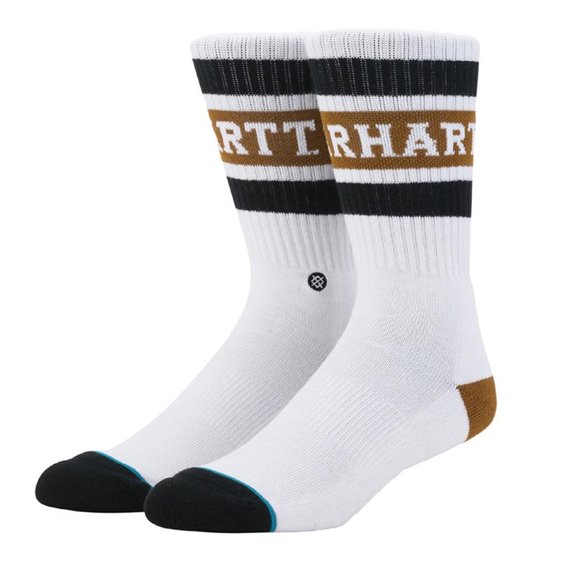 Carhartt Strike Socks White/Black/Hamilton Brown