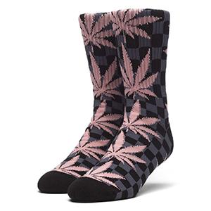 HUF Checkered Plantlfe Socks Black