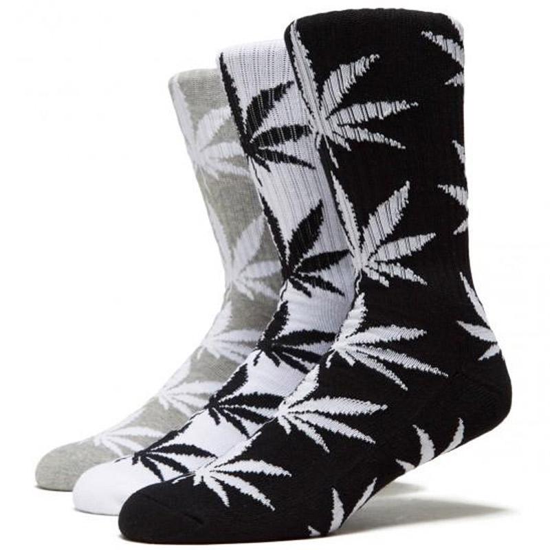 HUF Essentials Plantlife Socks 3-Pack Black/White/Grey Heather