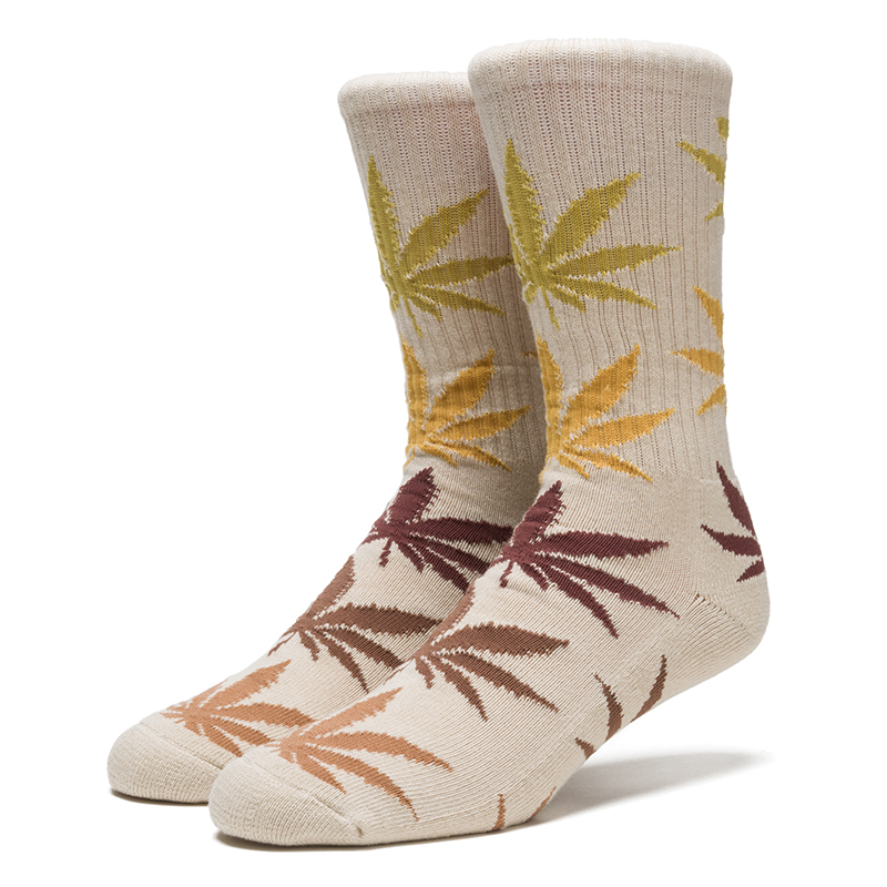 HUF Fader Plantlife Crewneck Socks Natural