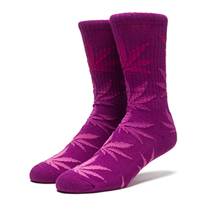 HUF Fader Plantlife Crewneck Socks Purple