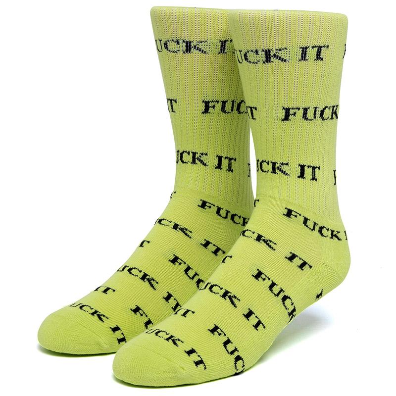 HUF Fuck It Sockss Huf Green