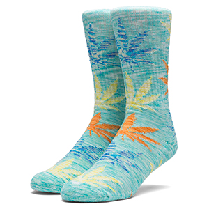 HUF Full Melange Plantlife Socks Mint
