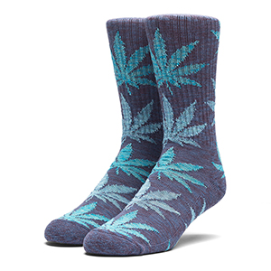 HUF Full Melange Plantlife Socks Navy