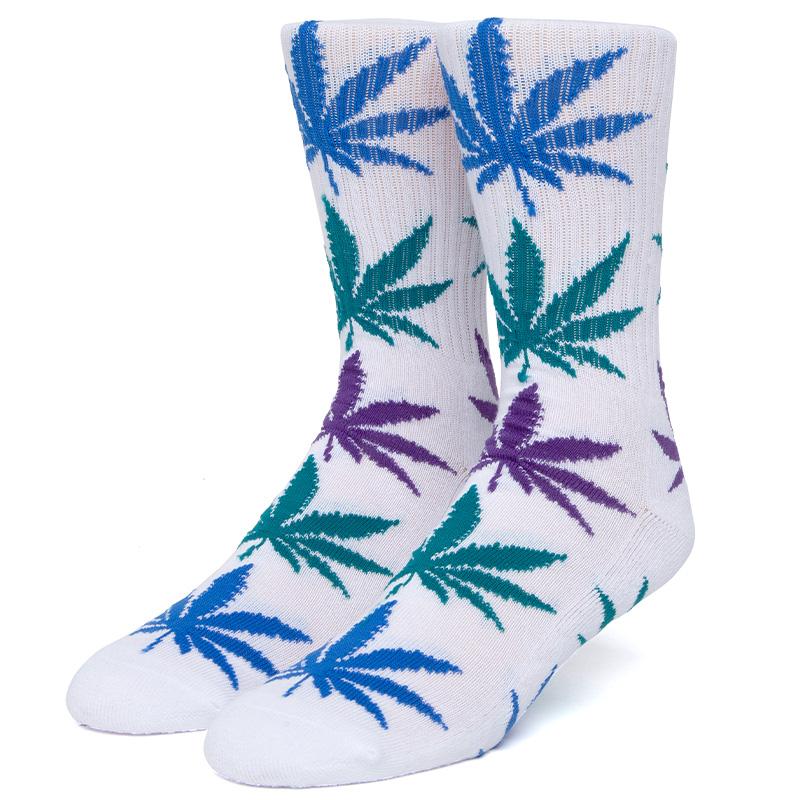 HUF Gradient Leaves Plantlife Socks White