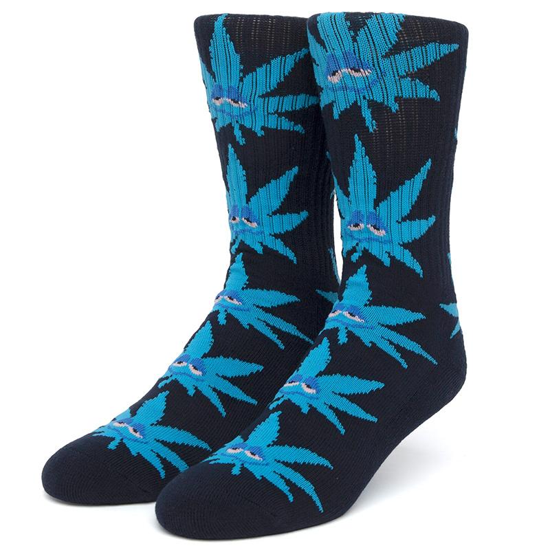 HUF Green Buddy Strains Socks Navy