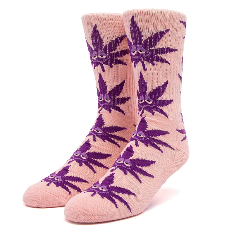 HUF Green Buddy Strains Socks Pink