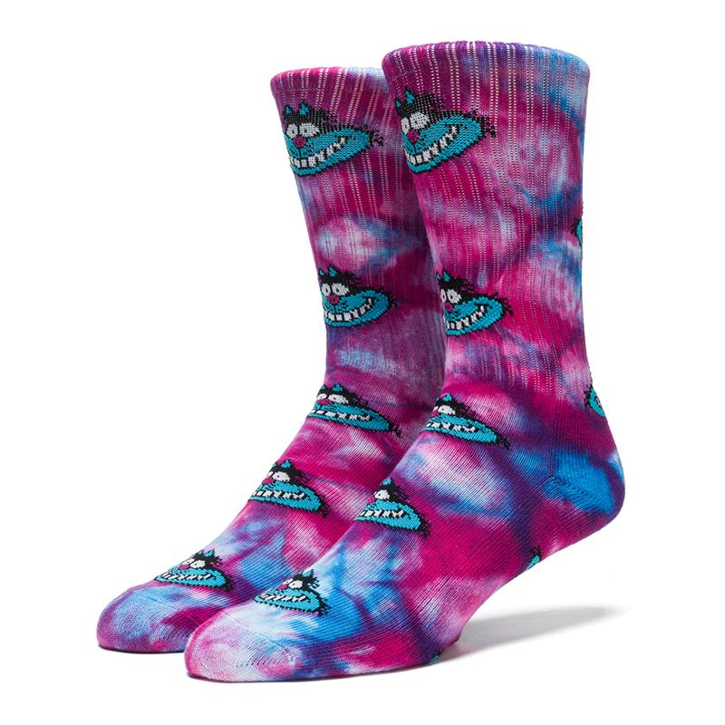 HUF Mad Kat Crew Sock Purple