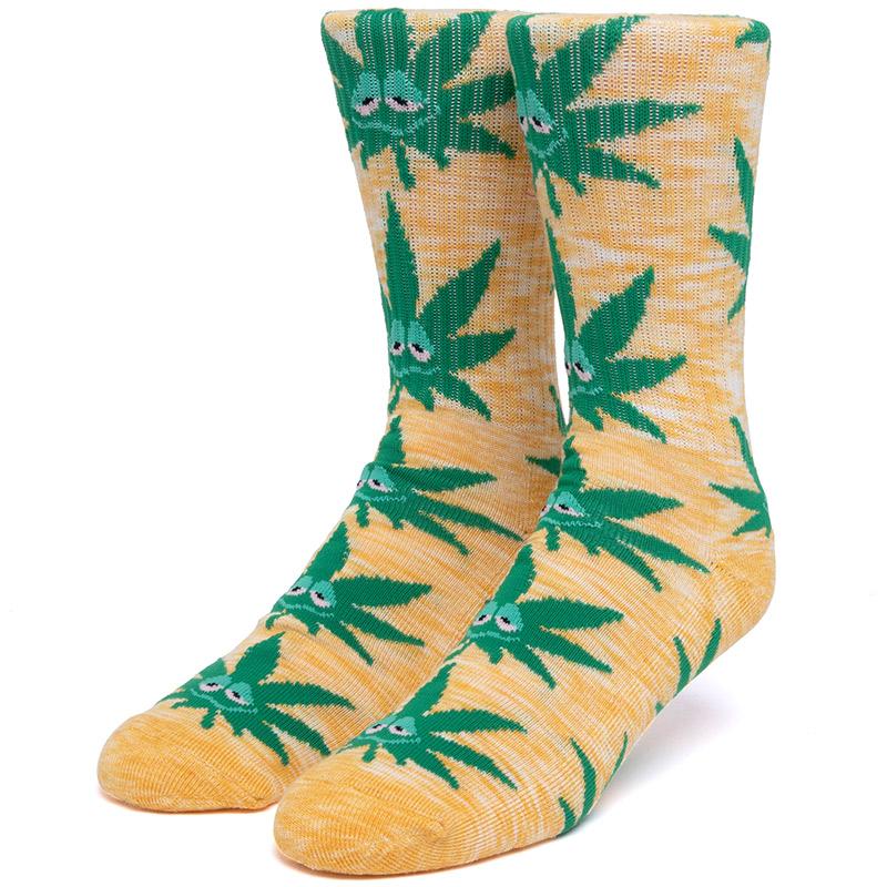HUF Melange Green Buddy Pl Socks Yellow