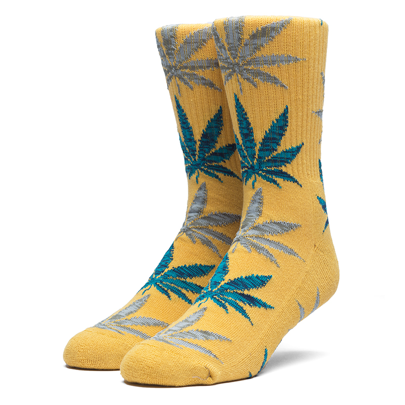 HUF Melange Leave Crew Socks Honey Mustard