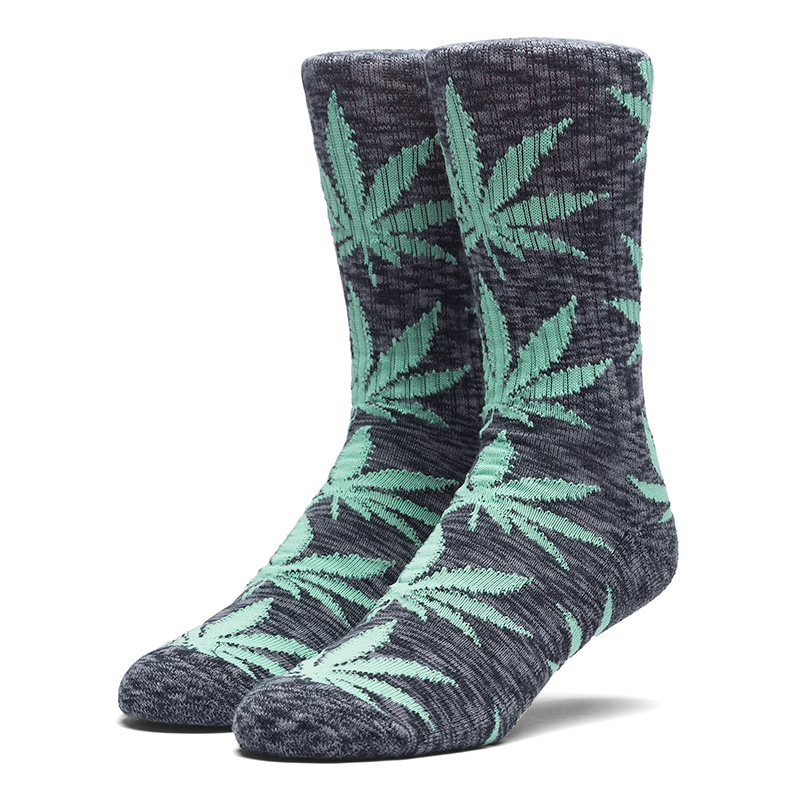 HUF Melange Plantlife Socks Black