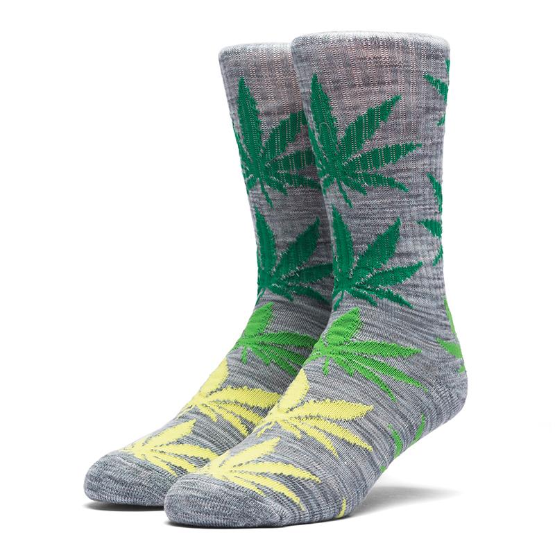 HUF Melange Plantlife Socks Grey