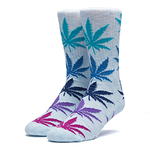 HUF Melange Plantlife Socks Light Blue