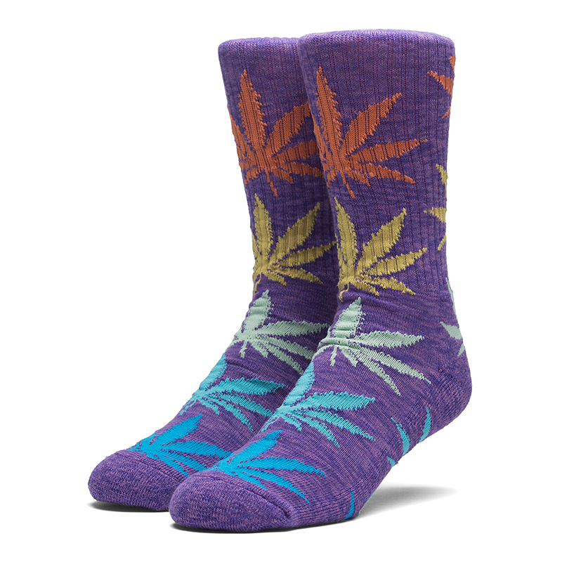 HUF Melange Plantlife Socks Purple