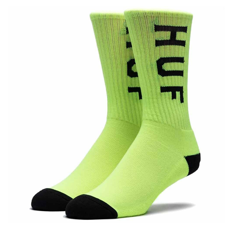 HUF Neon Og Crew Socks Neon Green
