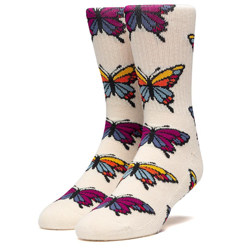 HUF Papallion Socks Unbleached