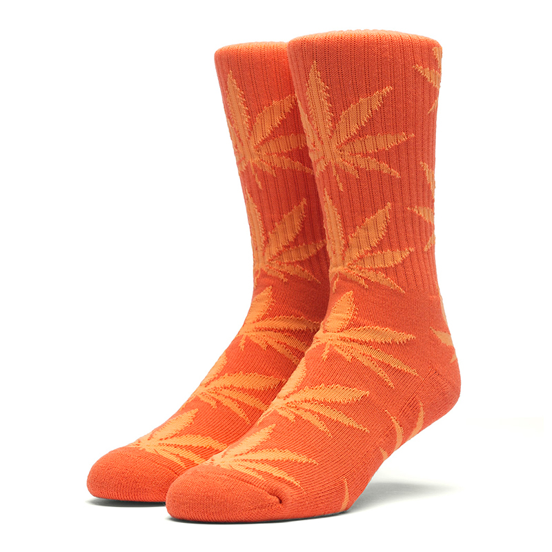 HUF Plantlife Crew Socks Orange /Neon Orange