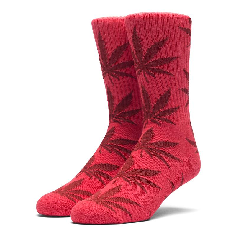 HUF Plantlife Crew Socks Red/Dark Red