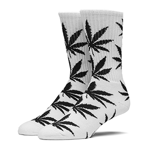 HUF Plantlife Crew Socks White
