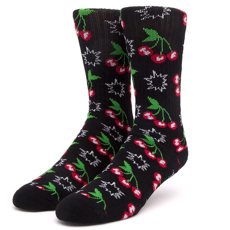 HUF Popping Cherries Socks Black