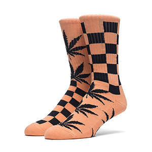 HUF Ridgemont Plantlife Crew Socks Orange