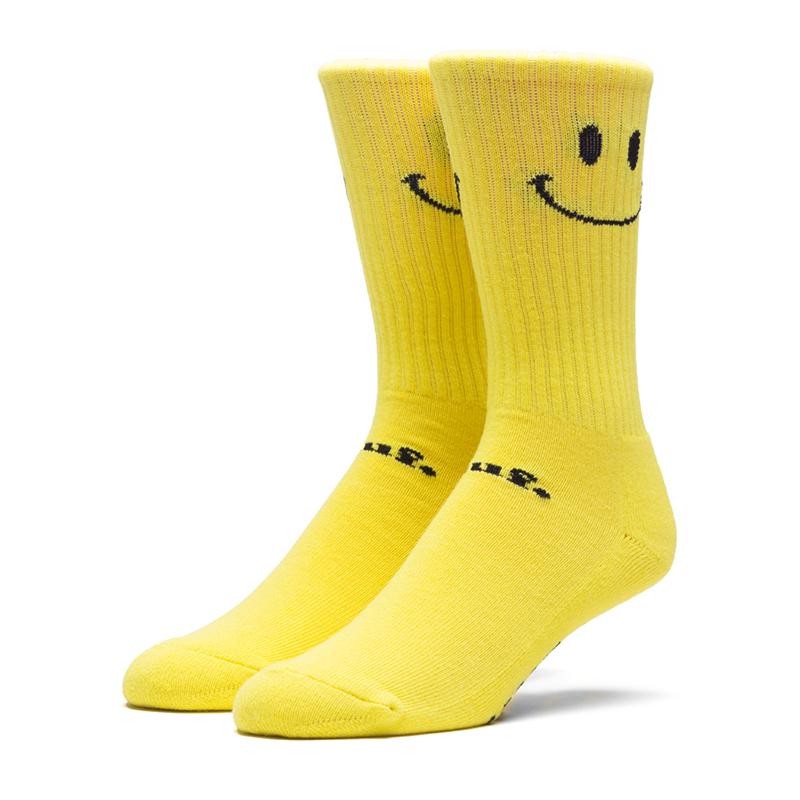 HUF Smiley Crew Socks Yellow
