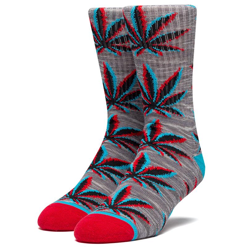 HUF Static Plantlife Socks Grey Heather