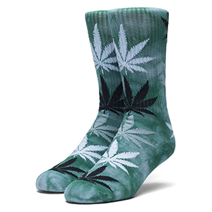 HUF Strain Plantlife Crew Socks Blue Haze
