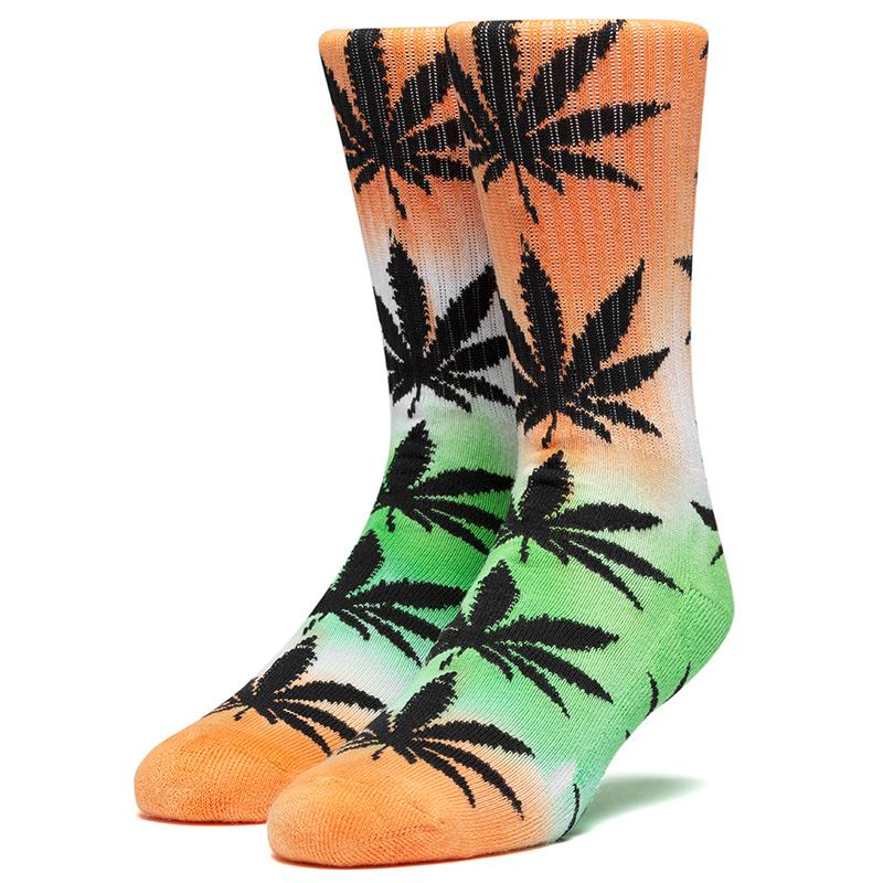 HUF Tiedye Plantlife Socks Electric Orange