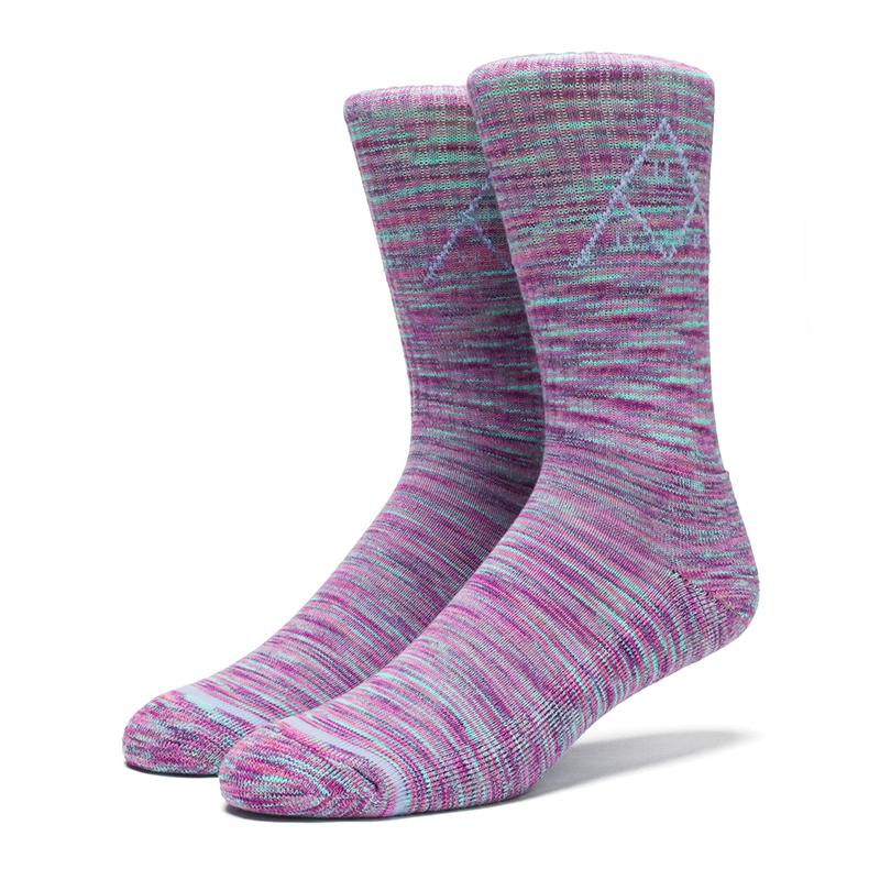 HUF Triple Triangle Melange Crew Sock Pink