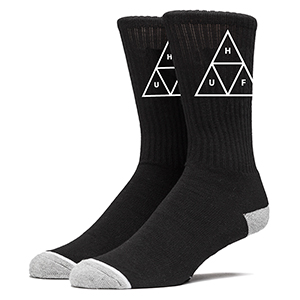HUF Triple Triangle Crew Socks Black