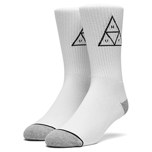 HUF Triple Triangle Crew Socks White