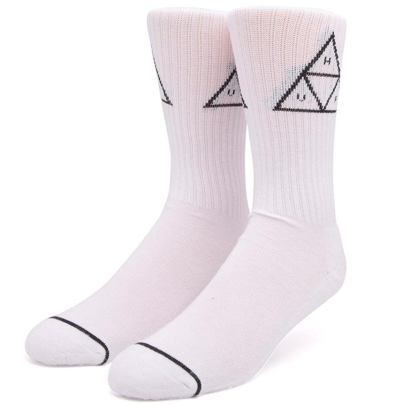 HUF Triple Triangle Crew Socks White