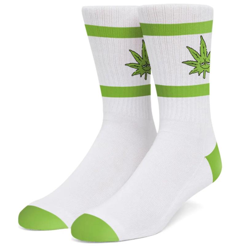 HUF X 420 Green Buddy Athletic Sock White