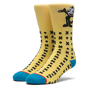 HUF X Felix The Cat Classic H Crew Socks Banana
