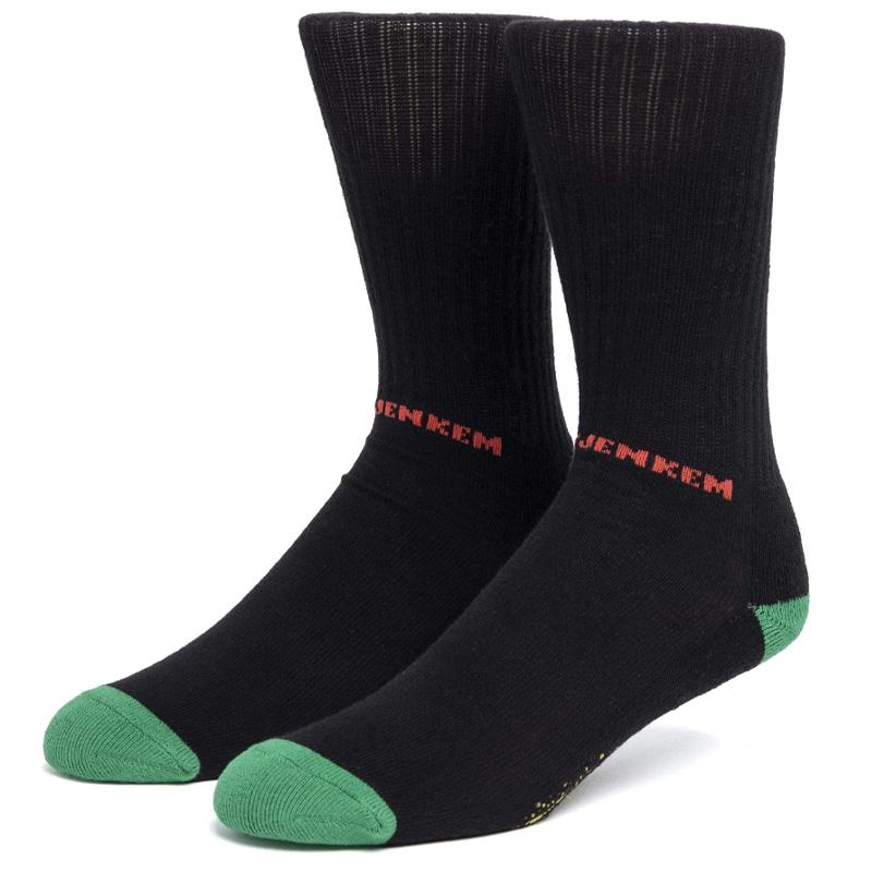 HUF X Jenkem Mag The Portal Crew Socks Black