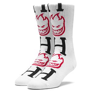 HUF X Spitfire Bighead H Socks White