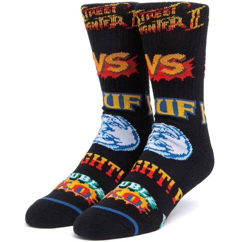 HUF X Streetfighter Street Fighter Graphic Sock Black