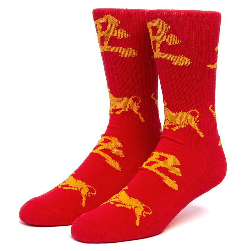 HUF Year Of The Ox Crew Socks Red