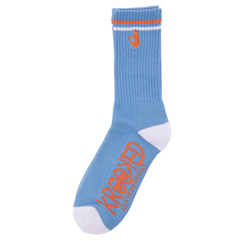Krooked Shmoo Socks Blue/White/Orange