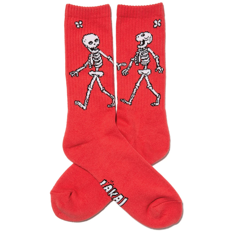 Lakai Skeleton Crew Socks Red