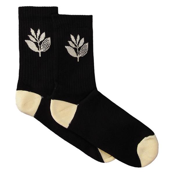 Magenta Mid Socks Black/Yellow